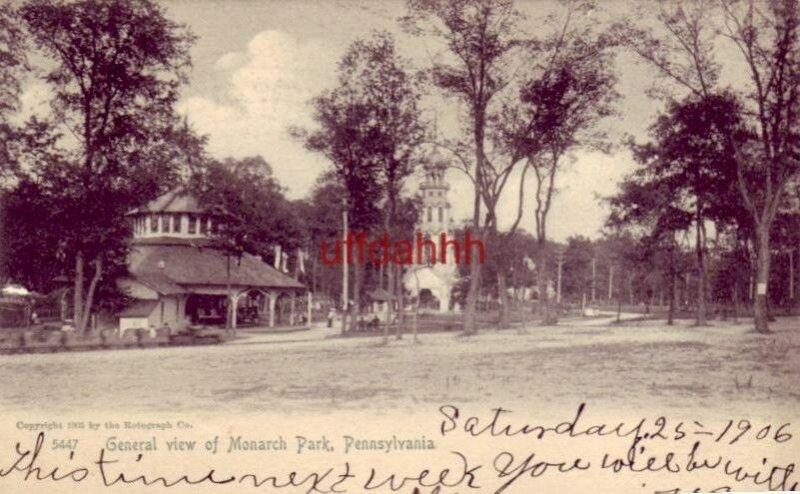 pre-1907 GENERAL VIEW OF MONARCH PARK, OIL CITY, PA. 1906
