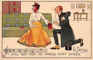 I will not ask to press that cheek man woman by Tuck Pub antique pc Y12163