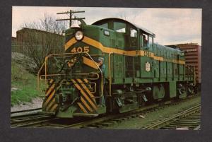 VT Green Mountain Road Railroad Train 405 Rutland Vermont Postcard Bellows Falls
