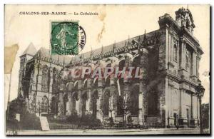 Old Postcard Chalons sur Marne La Cathedrale