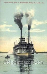 Government Boat On The Mississippi Ferry Boats, Ship, Ships, Postcard Post Ca...