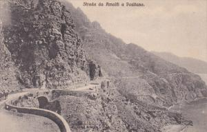 Strada da AMALFI a Positano, Salerno, Campania, Italy, 00-10s