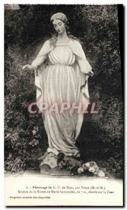 Old Postcard Pilgrimage From N D For Zion Praye Model of the statue of Mary i...