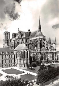 Vintage REAL PHOTO Postcard REIMS, Marne, Cathedral, France #114