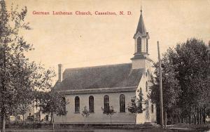 Casselton North Dakota~German Lutheran Church~Back Side~1908 Sepia Postcard