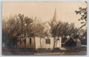 Scotland SD~Presbyterian Church~Small House~Ladder~Baking Every Day~1910 RPPC