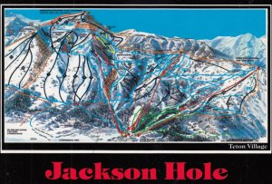 MAP ; Jackson Hole , Wyoming , 1980-90s ; Ski Routes