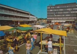 Fredrikstad Torg Norway Norwegian Markets Fruit Vegetable Market Stall Postcard