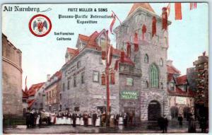 SAN FRANCISCO Panama Pacific Expo PPIE Advertising ALT NURNBERG RESTAURANT 1915