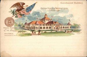 Cotton States Exposition 1895 Atlanta Georgia GA Govt Bldg PIONEER POSTCARD