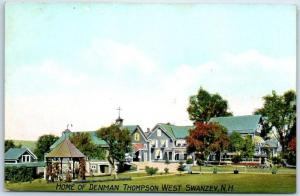 West Swanzey, New Hampshire Postcard HOME OF DENMAN THOMPSON c1910s Unused