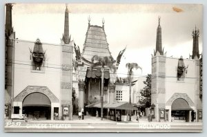 Hollywood California~Grauman's Chinese Theatre~Posters~Coffee Shop~c1950 RPPC