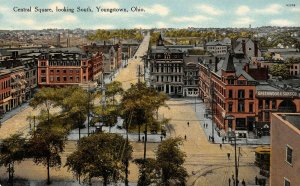 LP42   Youngstown  Ohio  Central Square    Postcard