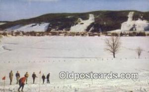 Ski Hills From Marquis Hil,Quebec Ski, Skiing Postcard Post Card Old Vintage ...