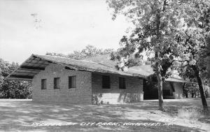 Winterset Iowa~Brick Shelter House Pavilion @ The City Park RPPC 1969