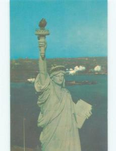 Pre-1980 CLOSE UP OF TOP HALF OF STATUE OF LIBERTY New York City NY E6052