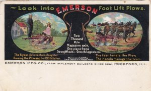 ROCKFORD , Illinois, PU-1908 ; Emerson Foot Lift Plows