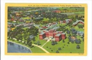 Air View Of Veteran's Administration Facility Hospital, Hampton, Virginia, 19...