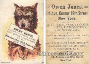 Owen Jones Dry Goods, Fancy Goods, New York, USA Trade Card Approx Size Inche...