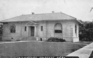 Holdrege Nebraska~Carnegie Public Library~B&W Postcard c1910
