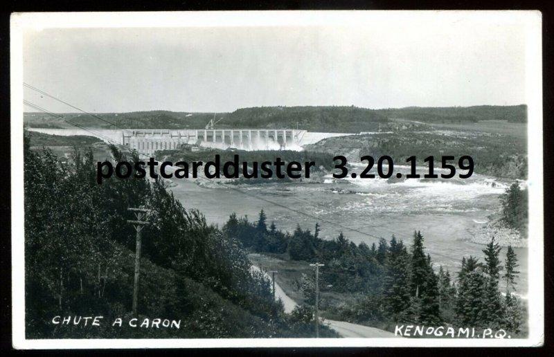 1159- KENOGAMI Quebec 1940s Chute a Caron. Real Photo Postcard