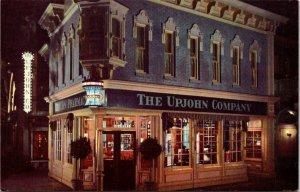 Postcard Disneyland Upjohn Victorian Drugstore Kalamazoo Michigan Unposted 1510