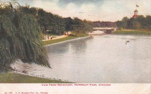 View from Refectory, Humbolt Park, Chicago, IL, Early Postcard, Used in 1909