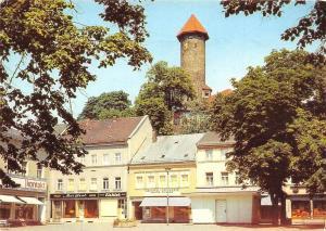 Auerbach Vogtl. Blick vom Friedensplatz zum Schloss, Kontakt Drogerie Castle