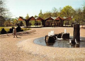 GG12408 Bad Hersfeld Kurparkeingang mit Pagode Brunnen Fountain Promenade