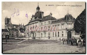 Old Postcard Bank Meaux L & # City 39Hotel and Caisse d & # 39Epargne