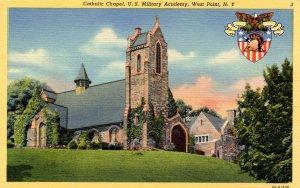 NY - West Point. Catholic Chapel at U.S. Military Academy