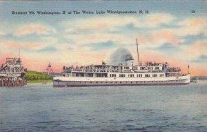 Steamer Mt Washington II at The Weirs Lake Winnipesaukee New Hampshire 1946
