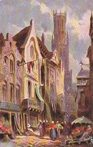 AS, Street Scene, Bruge (West Flanders), Belgium, 1900-1910s