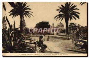 Postcard Old French Riviera Nice Jardin Albert I in Winter