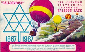 Balloonpost , Carried by free Balloon Spelterini , Canada , PU-1967