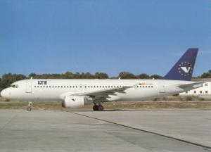 LTE, Airbus 320-214, unused Postcard