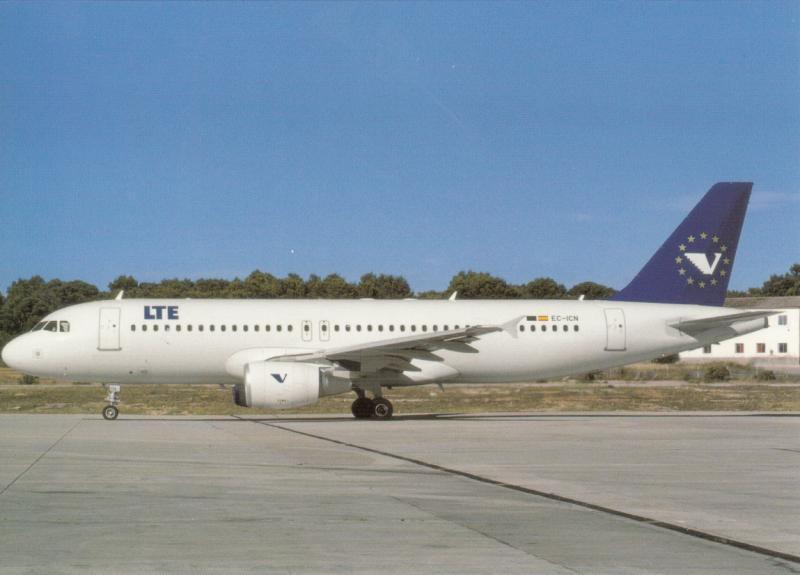 LTE, Airbus 320-214, unused Postcard