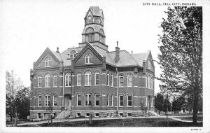 Tell City Indiana City Hall General Exterior View Antique Postcard V17631