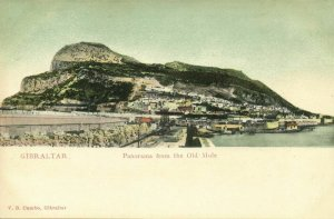 Gibraltar, Panorama from the Old Mole (1899) V.B. Cumbo Postcard