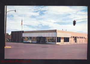 HOBBS NEW MEXICO U.S. POST OFFICE DOWNTOWN 1950's CARS VINTAGE POSTCARD