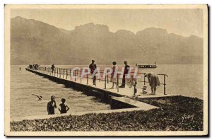 Old Postcard Lake Annecy And Her