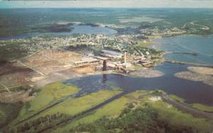 Aerial View, McFadden Lumber Company, Lake Huron, BLIND RIVER, Ontario, Canad...