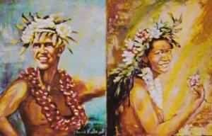 Morris Katz Painting Hawaiian Entertainers