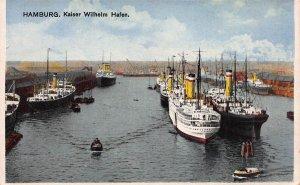 Hamburg, Germany, Kaiser Wilhelm Hafen, Early Postcard, Unused
