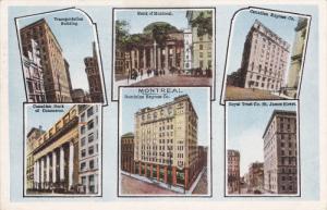 MONTREAL, Quebec, Canada, PU-1927; Six Views, Transportation Building, Bank O...