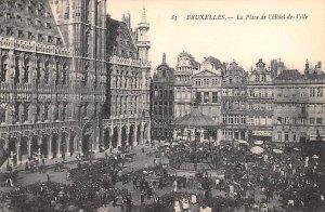 La Place de l'Hotel de Ville Bruxelles Belgium Unused