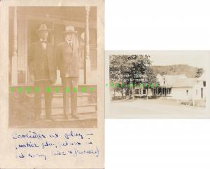 Aug 3 1923 Plymouth VT RPPC: President Calvin Coolidge & Dad Who Swore Him In