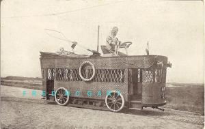 1908 Delft Netherlands PC: 'Child Transport of the Future' Streetcar
