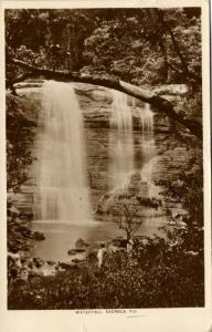 fiji islands, NADROCA, Waterfall (1932) RPPC Stamp