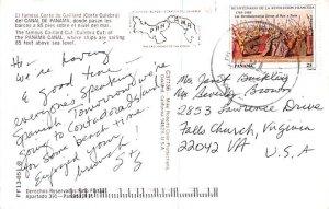 Gaillard Cut Panama Postal Used Unknown